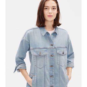 Eileen Fisher Organic Cotton Stretch Jean Jacket.